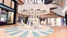 打卡必去!少女系聖誕商場活動 粉紅波波牆+純白旋轉木馬