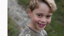 El príncipe Jorge cumple siete años y sus padres lo celebran con unas fotos
