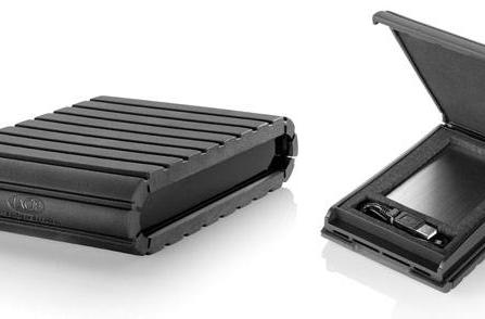 Rugged LaCie Tank enclosure protects external HDDs, gaming handhelds, family heirlooms