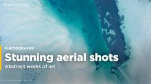 Stunning aerial landscape shots look like abstract works of art