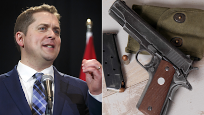 Andrew Scheer pushes lifetime firearms ban for criminals