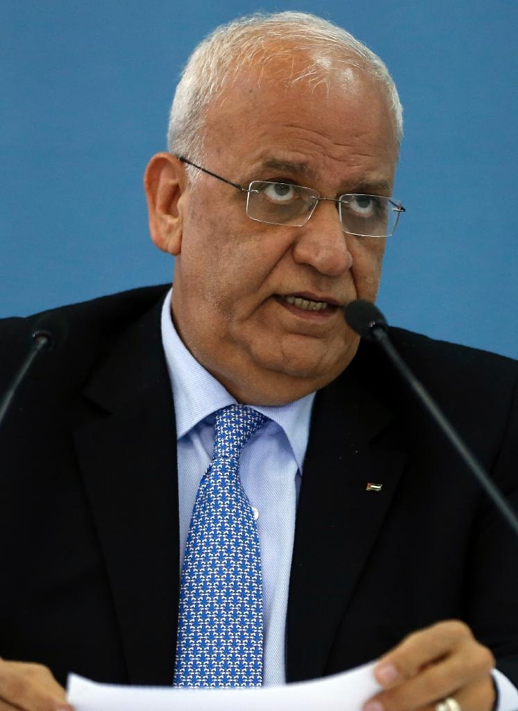 Palestine Liberation Organisation secretary general Saeb Erekat condemned the shooting of a Palestinian teenager by Israeli troops (AFP Photo/Abbas Momani)