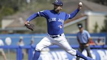 Blue Jays pitcher T.J. House leaves field in ambulance after line drive to the head