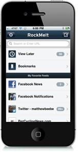 RockMelt adds iPhone app for social browsing