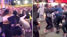 Wild brawl erupts on final night of Sydney Royal Easter Show
