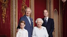 Royal Family Releases Portrait Of Queen, Prince Charles, Prince William, Prince George