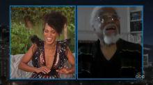 Kerry Washington's adorable dad hijacks 'Kimmel' monologue with dad jokes