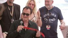 Tarantino picks up best dog award in Cannes