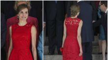 Letizia, la reina que siempre enamora vestida de rojo