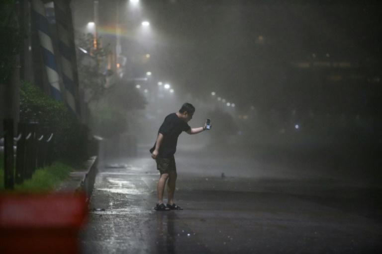 More than 2,200 people have been evacuated to temporary shelters and around 120,000 homes were left without power throughout the night across southern parts of South Korea