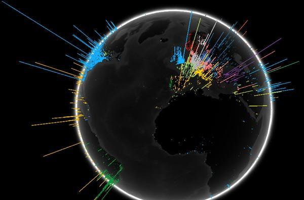 Visualized: Google searches around the globe