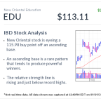 New Oriental Education, IBD Stock Of The Day, Forms This Rare, Powerful Base