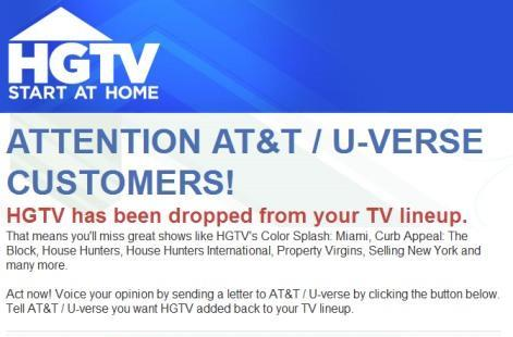 U-verse loses HGTV, Food & other Scripps networks during latest carriage dispute