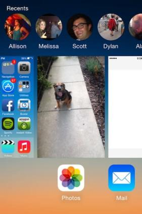 Multitasking's new look in iOS 8: Quick Contacts