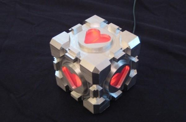 DIYer builds his own CNC mill, fabricates a Weighted Companion Cube to show off