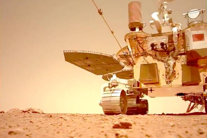 China's Zhurong rover on Mars in new video