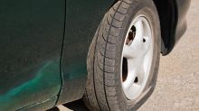 Police in Kabul slash car tyres due to bomb fears