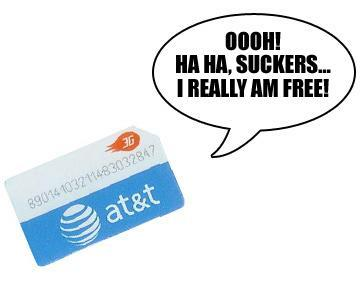 AT&T says SIM-only service available contract free, 2-year plan was a mistake