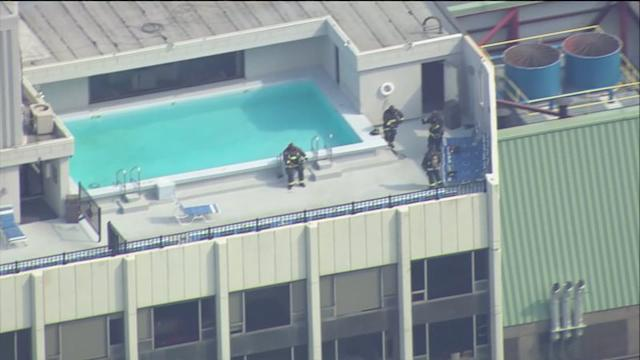 RAW: Crews at the scene of high-rise fire in Gold Coast neighborhood