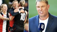 Shane Warne sparks AFLW controversy with 'proper footy' remarks