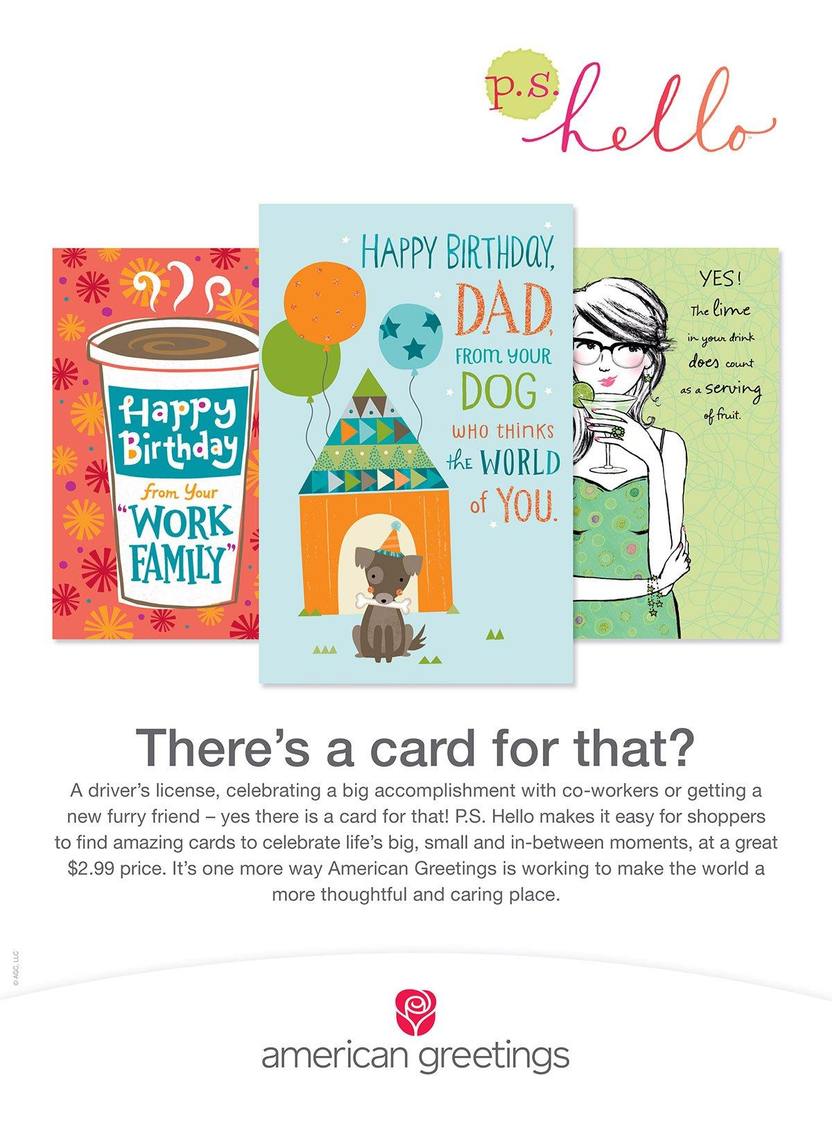 Brand New Ps Hello Line Of Cards From American Greetings