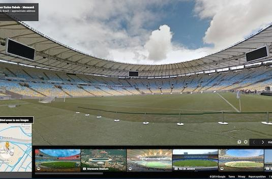 Take a sunny Street View tour of Brazil's World Cup stadiums