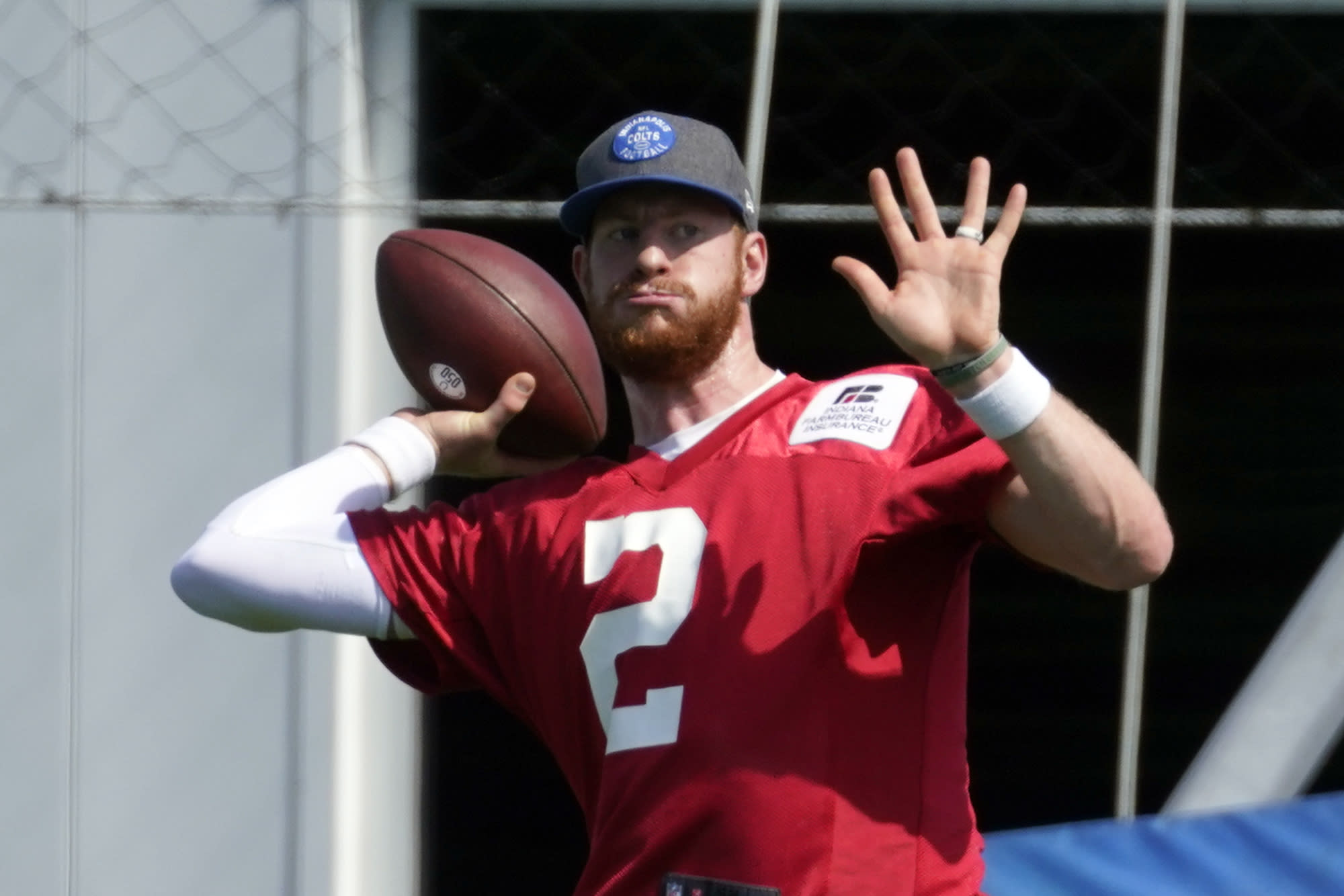 Colts' Carson Wentz putting mobility on display at OTAs
