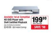 "Truth in advertising: Compusa's I-O Data AVLP2/DVDLA ""HD DVD"" Player"