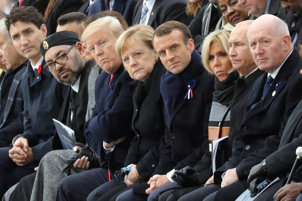 Around 70 leaders including US and Russian Presidents Donald Trump and Vladimir Putin marked the centenary of the 1918 Armistice in Paris (AFP Photo/ludovic MARIN)