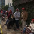 Trump fans line up, waiting for Cruz Houston rally