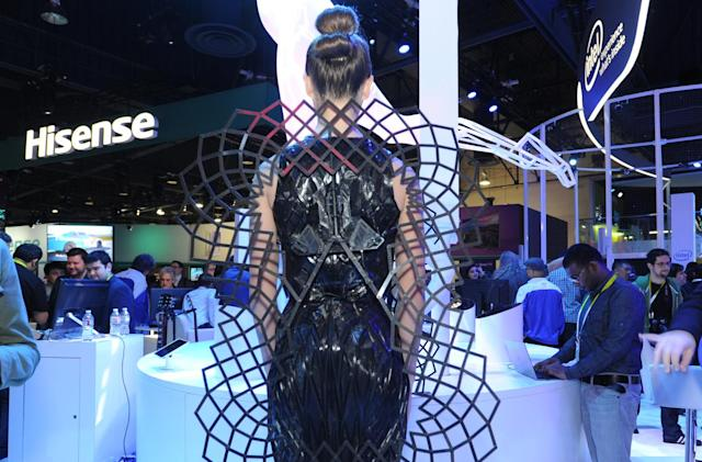 Intel's conceptual Adrenaline Dress gets upset when you do