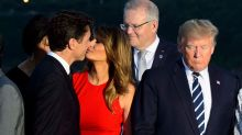 Melania Trump and Justin Trudeau kiss sends internet into a spin