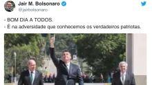 Seguindo fritura de Mandetta, Bolsonaro destaca ministros que seriam 'verdadeiros patriotas'