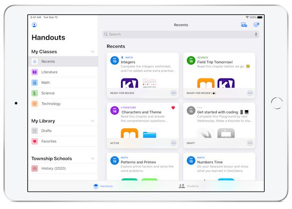 Apple updates Schoolwork app to help teachers manage classrooms from afar