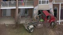 Truck crashes into condo in Macomb Township