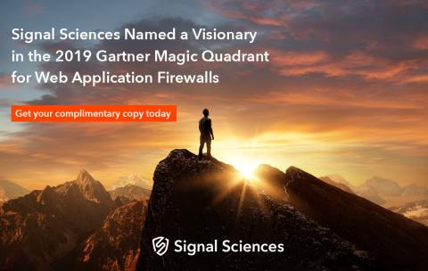 Signal Sciences Recognized as a Visionary in the Gartner Magic Quadrant for Web Application Firewalls