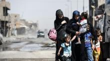 In Mosul, ghostly civilians emerge from Old City hell