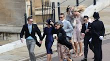 Hold on to your fascinators — the internet cannot get over wedding guests fighting the wind at Windsor Castle