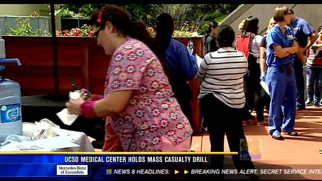 UCSD Medical Center holds mass casualty drill