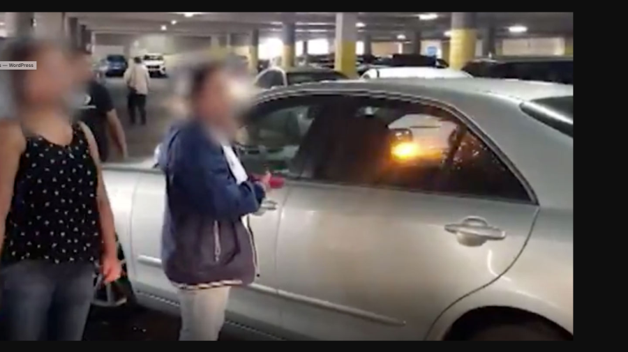 Fight over a car park at busy shopping centre