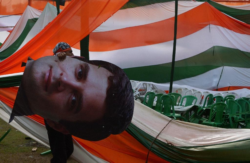 The crisis for Congress has raised fresh questions about the party's top leadership -- especially 47-year-old Rahul Gandhi, great grandson of India's first prime minister Jawaharlal Nehru (AFP Photo/DIBYANGSHU SARKAR)