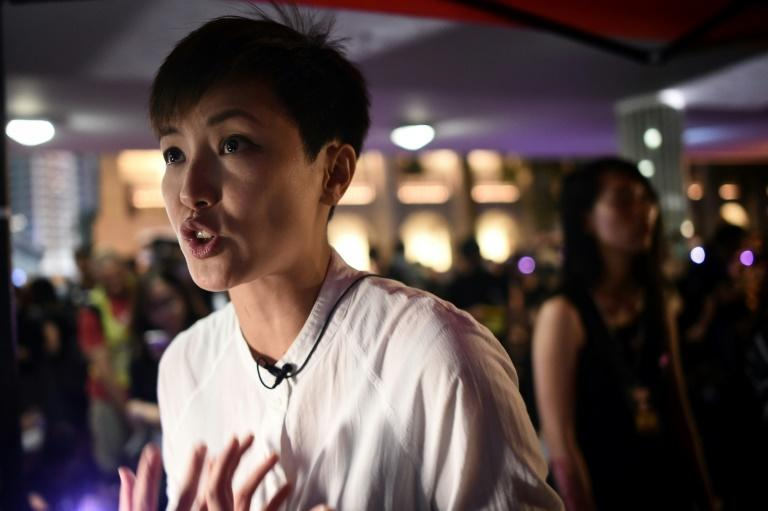 Celebrity Hong Kong singer turned activist Denise Ho said on Facebook the aim of the online attacks against her was to 'demonise' (AFP Photo/Lillian SUWANRUMPHA )