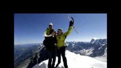 Gabrielle Giffords visits French Alps