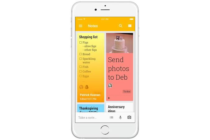 Google Keep brings Evernote-style productivity to iOS