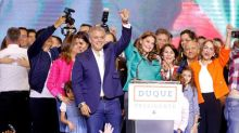 Colombia president-elect vows to unite nation, alter peace deal