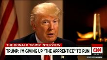 Donald Trump Says He Willingly Left 'The Apprentice'