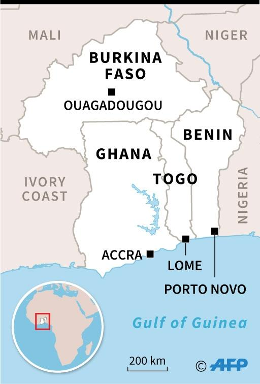 Map locating Ghana, Togo, Benin and Burkina Faso (AFP Photo/)