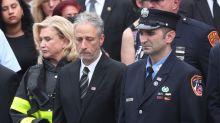 Jon Stewart in Attendance for Funeral of 9/11 Hero Luis Alvarez
