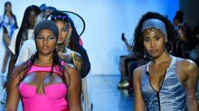 Curvy model causes a stir in 'Sample Size' T-shirt at NYFW's most diverse show