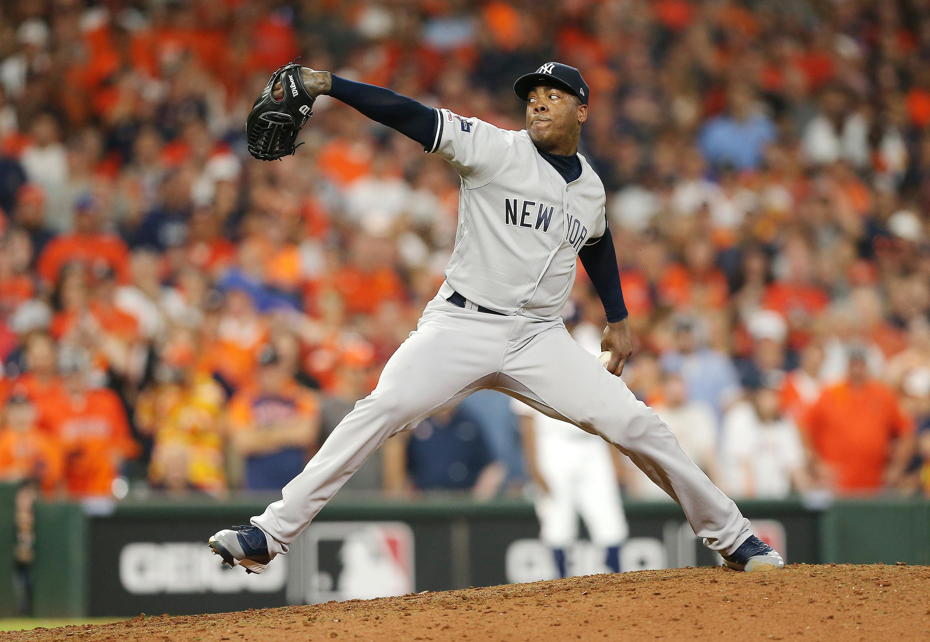 Yankees will not rush Aroldis Chapman's return from coronavirus